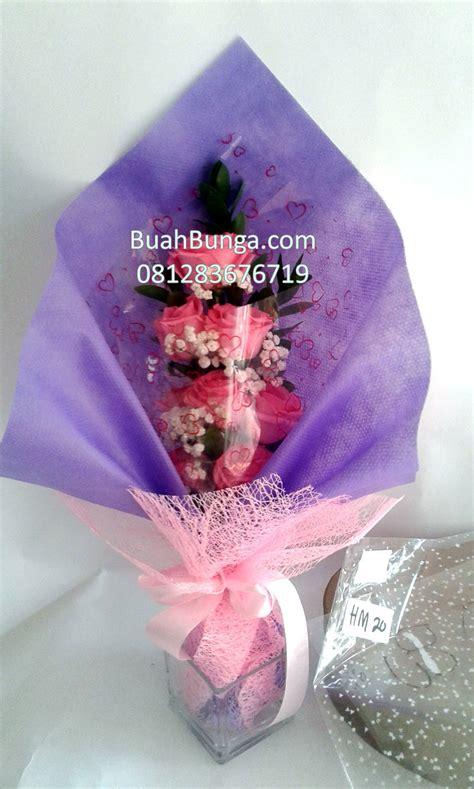 jual handbouquet mawar pink di jakarta selatan 081283676719 kode bb hb 16 buahbunga