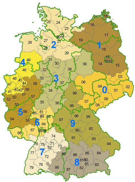 zip code map germany list of postal codes in germany wikipedia