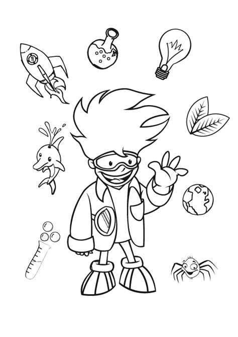coloring pages science free science lab coloring pages