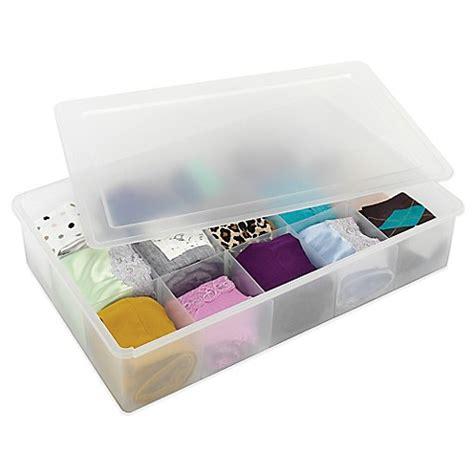 whitmor drawer organizer whitmor divided stacking drawer organizer box with lid