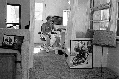 lifephotogallery|steve mcqueen sitting with sunglasses on