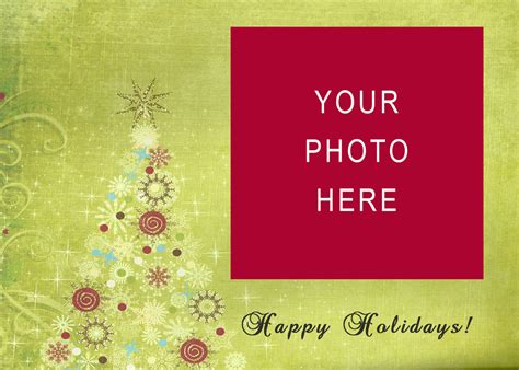 happy holidays photo card template free free card templates doliquid