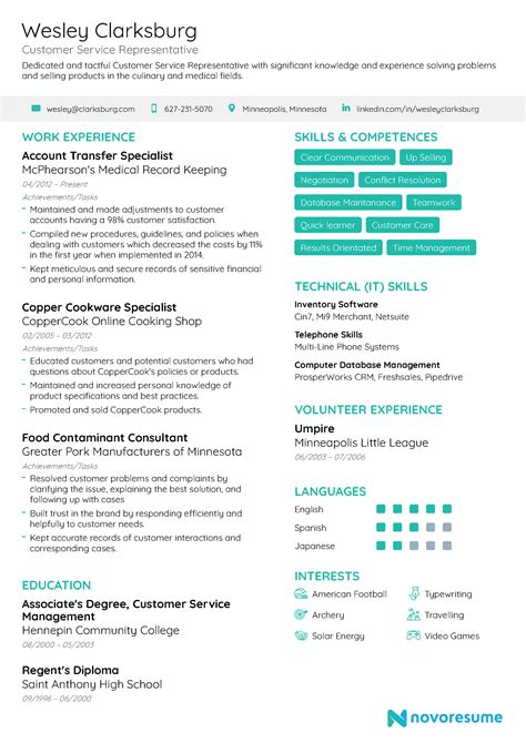 resume summary statement examples customer service example of