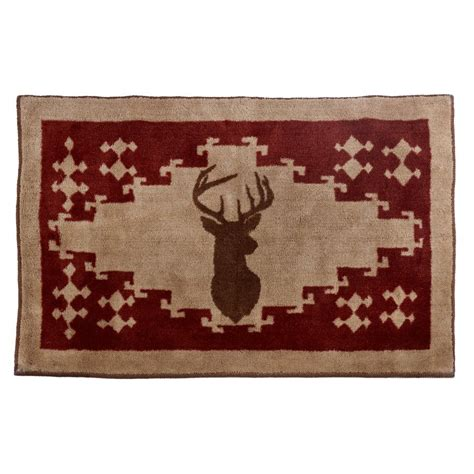 deer bathroom rugs deer kitchen and bath rug