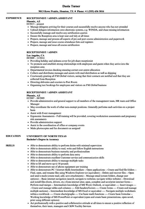 resume examples for receptionist job free download resume objectives