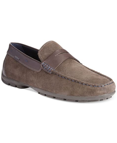 geox mens loafers lyst geox uomo winter monet 2 fit loafers in brown for