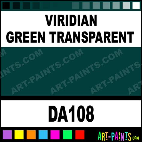 viridian green transparent decoart acrylic paints da108 viridian green transparent paint