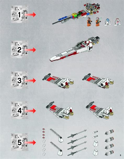 Make Your Own Blueprint Online lego x wing starfighter instructions 9493 star wars