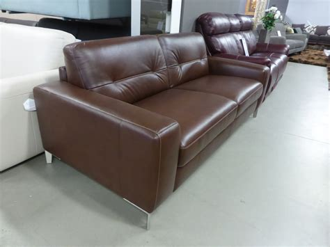 Natuzzi Brown Leather Sofa Natuzzi Editions Highpoint Italian Leather Sofa Bed Brown Furnimax Brands Outlet