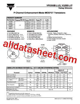 transistor datasheet vishay vpo0300l datasheet pdf vishay siliconix