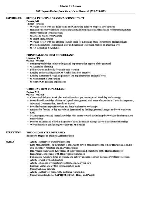 hcm consultant resume sles velvet