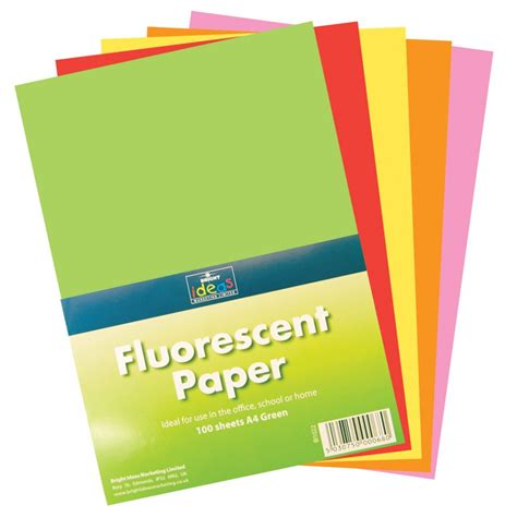 fluorescent paper pack 100 sheets card paper from