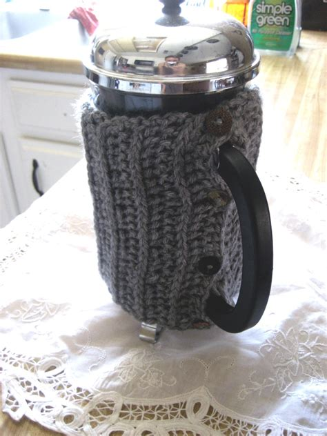 pattern for french press cozy crochet every day coffee cozy patterns