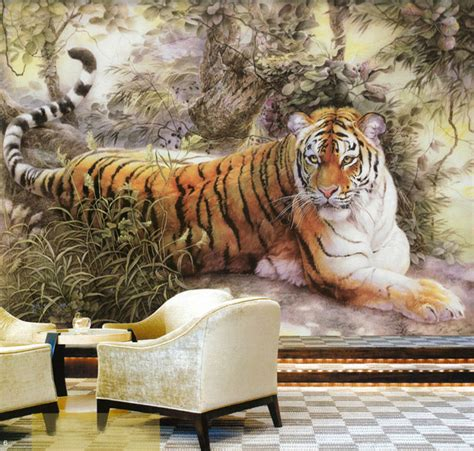 animal bedroom wallpaper aliexpress com buy chinese painting wall mural tiger