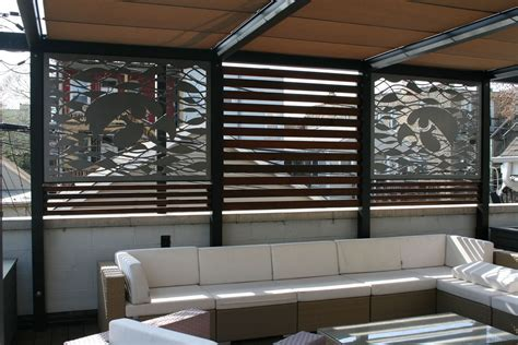 custom outdoor metal privacy screens for chicago rooftop by aesthetic metals inc custommade com