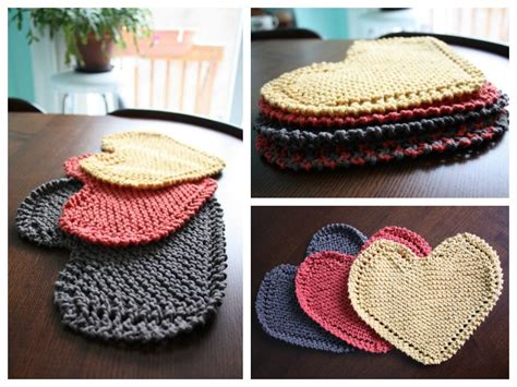 heart shaped dishcloth pattern heart shaped dishcloth free knitting pattern