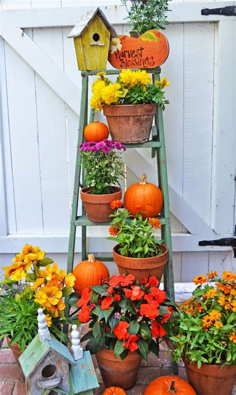 fall garden decor 17 best images about ladders on ladder plant