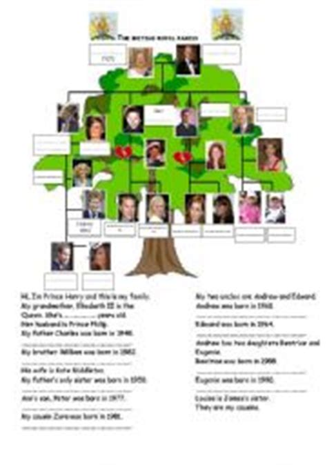 printable quiz about the royal family esl worksheets for beginners the british royal family