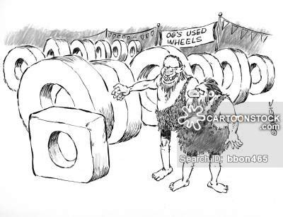 funny cartoons caveman wheel square wheels cartoons and comics funny pictures from