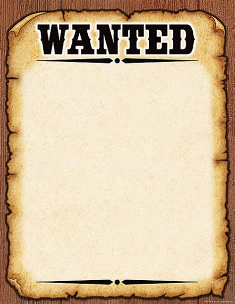 wanted poster template free printable western wanted poster chart western