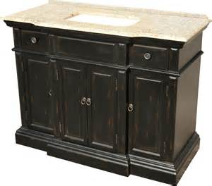 48 inch single sink bathroom vanity with a distressed