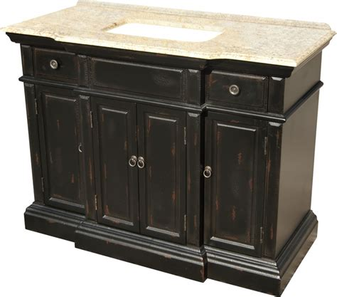 48 Black Bathroom Vanity 48 Inch Single Sink Bathroom Vanity With A Distressed Black Finish Uvlklk2748