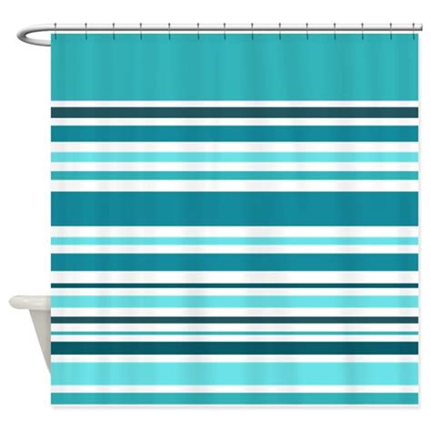 teal striped curtains teal striped shower curtain by giftsofgrace