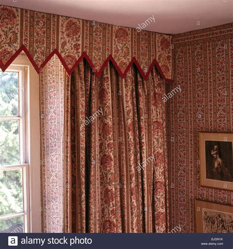 gothic style curtains close up of patterned curtains and matching gothic style
