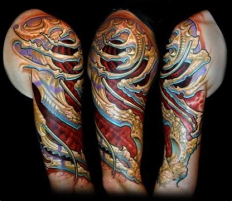tattoo art biomechanical tattoos alien infestation