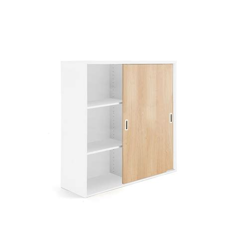 office storage cabinets with doors xl sliding door cabinet modulus 1200x1200 mm white with