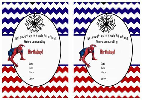 printable spiderman birthday invitation designs spiderman birthday invitations birthday printable