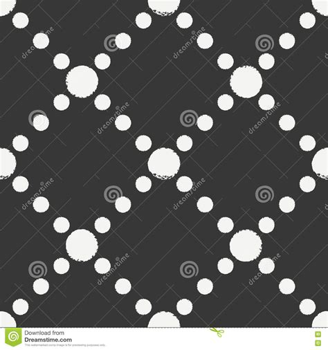 vector seamless pattern abstract background with round hand drawn geometric seamless ink polka dot pattern