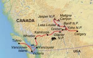 canadian rockies vancouver island worldwide adventure
