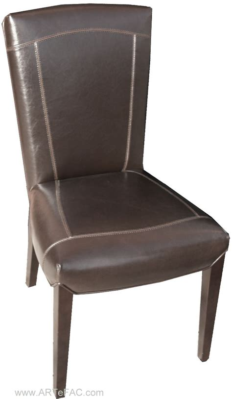 parsons brown leather dining chairs quot
