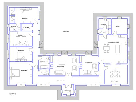 large bungalow floor plans large bungalow house plans ireland home deco plans