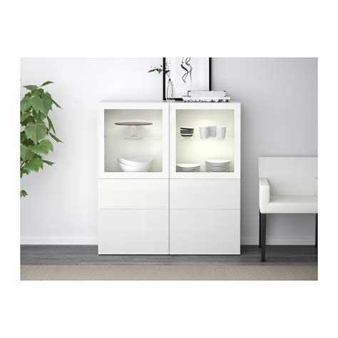ikea besta glass best 197 storage combination w glass doors white selsviken