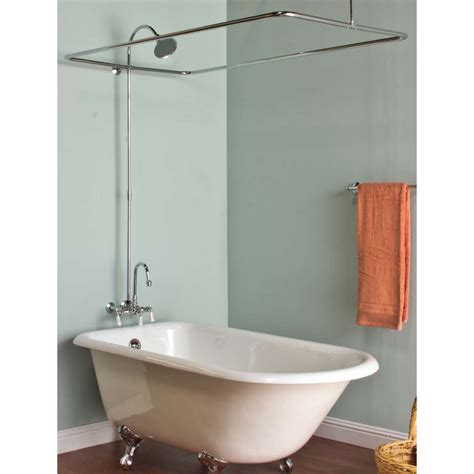 shower curtain rods for clawfoot tubs marvellous design clawfoot tub shower curtain rod 25 best