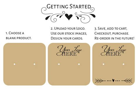Free Earring Display Card Template by Design Tool Design Your Own Jewelry Product Display