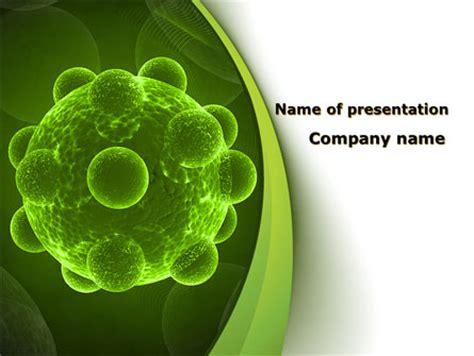 virus powerpoint template free virus an electron microscope powerpoint template backgrounds 09767 poweredtemplate