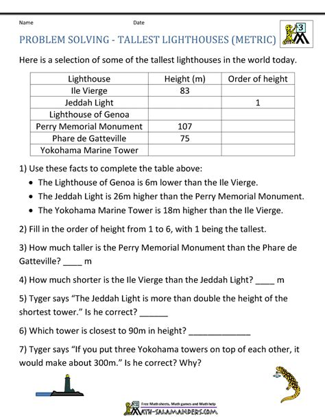 Integer Word Problems Worksheet 6th Grade by Math Word Problems For