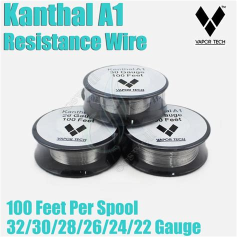 Vaportech Kanthal A1 24 Awg 100 Vapor Tech 24 kanthal wire gallery electrical and