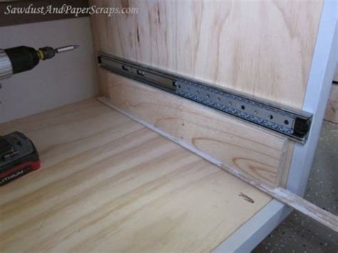 Installing Drawers In Kitchen Cabinets How To Install Drawers In Cabinets Manicinthecity