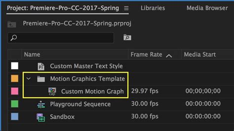 Motion Graphics Template Workflow In After Effects And Premiere Pro Cc 2017 Spring Premiere Bro Install Motion Graphics Template