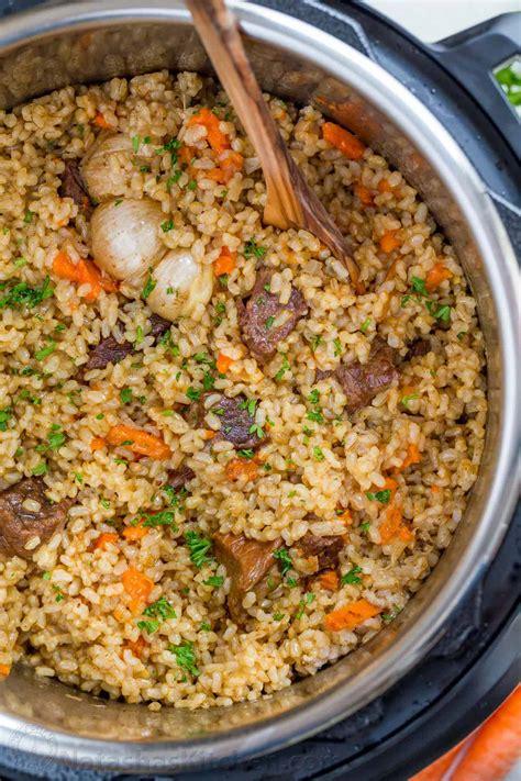 instant photos instant pot rice recipe beef plov natashaskitchen
