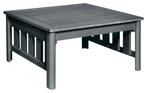 stratford slate gray square cocktail table from cr plastic
