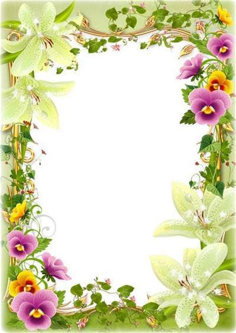 Free Photo Frames Templates by Flower Photo Frames Psd Free