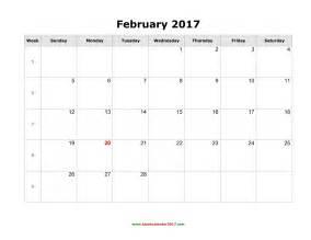 Kalender Vip 2018 Free February 2017 Calendar Printable Templates Webelations
