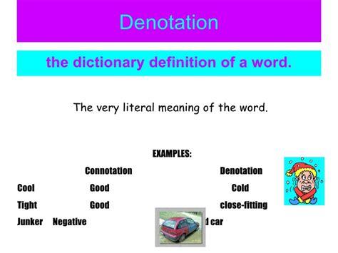 exle of denotation denotation exles alisen berde