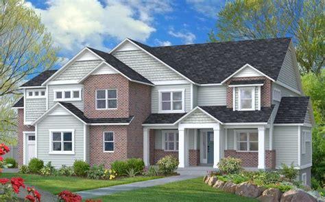 light grey siding house brick with light grey siding shingles and a