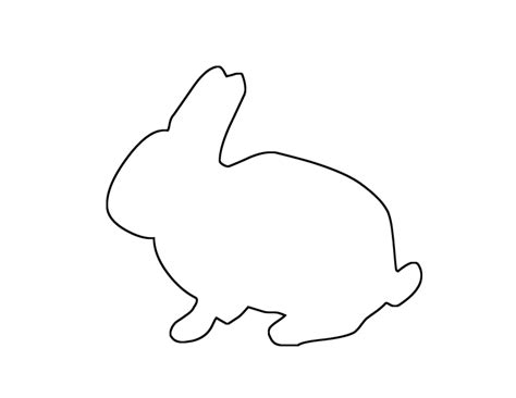 rabbit template bunny outline printable scope of work template easter